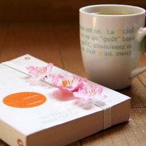 zakładka do książki - kwiat wiśni