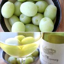 triki kuchenne - zamrożone winogrona do wina