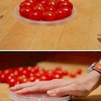 triki kuchenne - błyskawiczne krojenie pomidorków