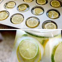 triki kuchenne - cytrynowe kostki lodu