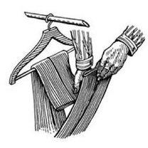 wieszanie spodni od garnituru - krok 2