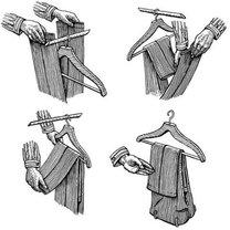 wieszanie spodni od garnituru
