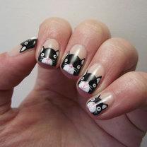 paznokcie w kotki