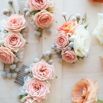 grzebień do włosów z kwiatami
