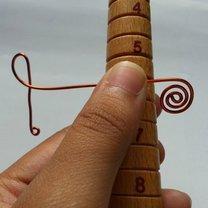 pierścionek klucz wiolinowy - krok 6