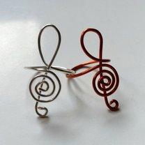 pierścionek klucz wiolinowy - krok 8