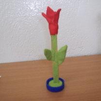 gotowy kwiatek własnej roboty
