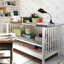 biurko z łóżeczka dziecięcego
