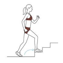 ćwiczenia na schodach - krok 1