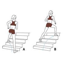 ćwiczenia na schodach - krok 4