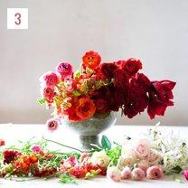 kompozycja kwiatowa ombre - krok 4