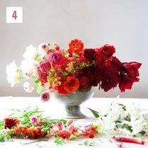 kompozycja kwiatowa ombre - krok 5