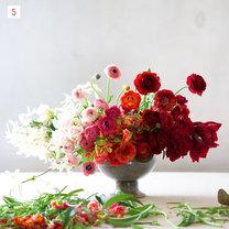 kompozycja kwiatowa ombre - krok 6