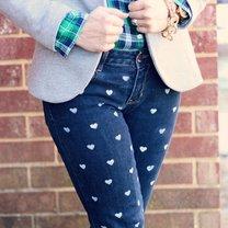 spodnie w serduszka DIY