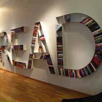 oryginalna półka na książki