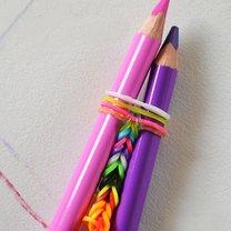 bransoletka z gumek na ołówkach