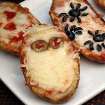 ziemniaki w łupinkach na halloween