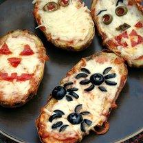 pizzerinki w ziemniaku na halloween