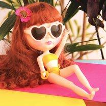 strój kąpielowy dla lalki