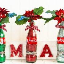 ozdoby świąteczne z butelki