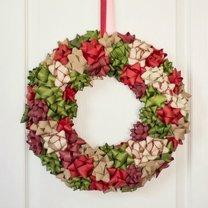 wieniec świąteczny na drzwi
