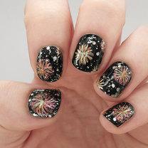 paznokcie w fajerwerki