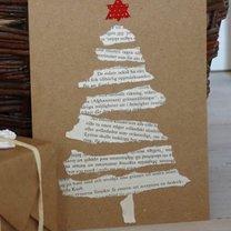 ekologiczna kartka świąteczna