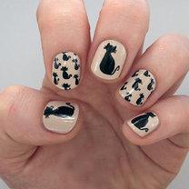 kotki na paznokciach