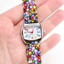 zegarek z cekinami