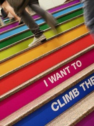 fitness na schodach