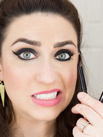 błędy makijażowe - eyeliner