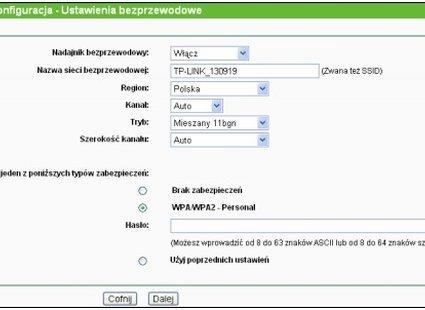 konfiguracja routera tp-link - krok 6