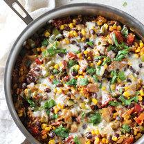 meksykańska zapiekanka z brązowym ryżem