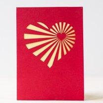 kartka walentynkowa z serduszkiem - krok 2
