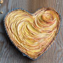 tarta w kształcie serca