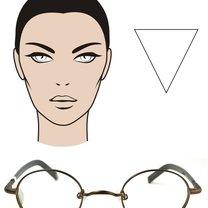 okulary dla twarzy w kształcie odwróconego trójkąta/serca