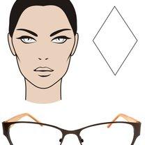 okulary dla twarzy diamentowej