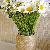 wazon ze słoika i sznurka