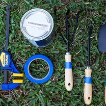 ozdabianie narzędzi ogrodowych - krok 1