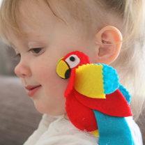 papuga z filcu
