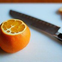 krojenie pomarańczy na cząstki - krok 2