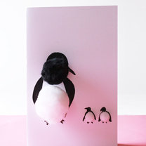 kartka na dzień matki - pingwiny