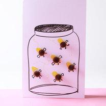 kartka na dzień matki - pszczółki