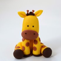 żyrafa z lukru plastycznego
