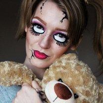 makijaż na Halloween - przerażająca lalka