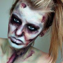 makijaż na Halloween zombie