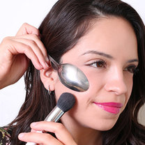 triki kosmetyczne z łyżką - krok 8