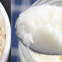 ryż i olej kokosowy