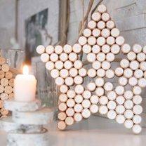 Jak zrobić świąteczną gwiazdę z korków po winie?