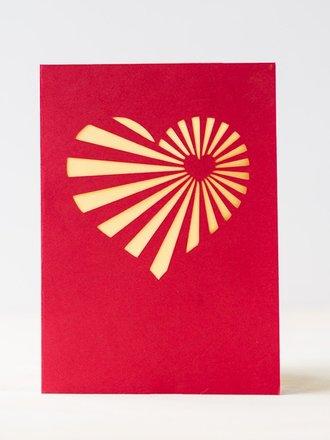 kartka walentynkowa z serduszkiem